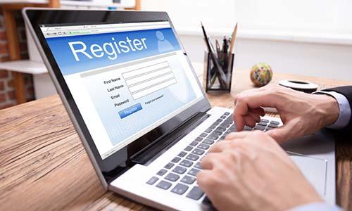 GST Registration in laptop ,Registration