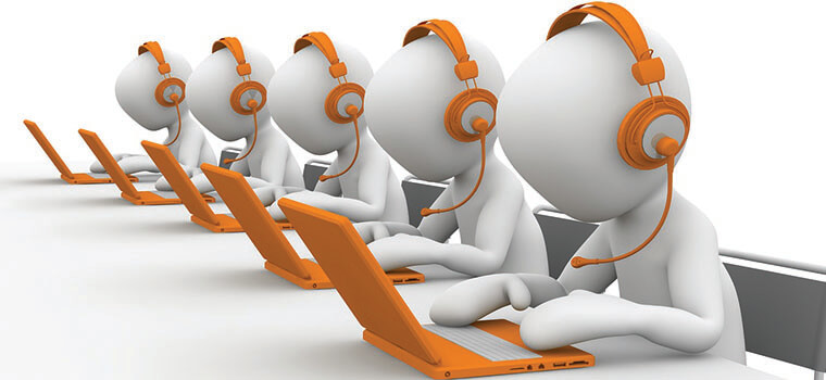 tele caller, cartoon ,team work ,call center